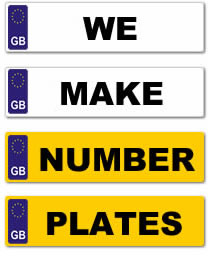 We make number plates